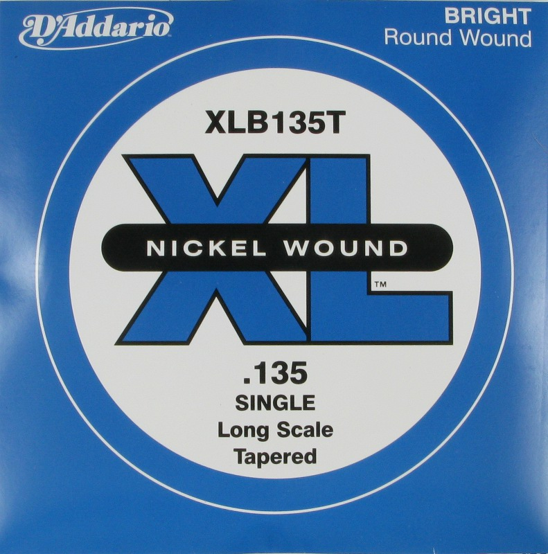 D'Addario Electric Bass Nickel Round Wound XL .135 Tapered, XLB135T
