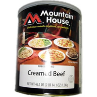 Mountain House #10 can Creamed Beef