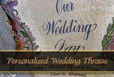 Wedding Day Tapestry Throws