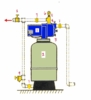 Hydro-pneumatic Goulds Water Technology Jet System for 1 to 1-1/2 Bathrooms, 1/2 HP 115/230 Volts