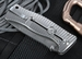 Exclusive Lion Steel SR-1 Stainless Raindrop Damascus and Integral Titanium Knife