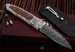 William Henry B30 Pangaea - Dinosaur Bone and Damascus Folding Knife
