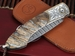 William Henry B12 Silver Falls - Mammoth Tooth & Gold Inlay Folding Knife