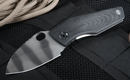 Strider Knives SJ75 Black and Tiger Stripes Tactical Folding Knife