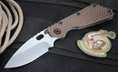 Strider SMF GG 3/4 Hollow Grind Coyote Tan Tactical Folding Knife