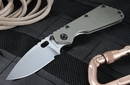 Strider SMF Stonewashed Ranger Green Tactical Folding Knife