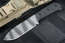 Strider MSS Black and Tiger Stripes Tactical Fixed Blade Knife