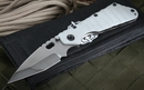 Duane Dwyer Custom DDC SMF XL Tanto - Arctic Grey Tactical Folding Knife -SOLD