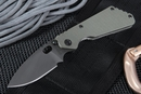 Strider PT Ranger Green and Black Blasted Tactical Folding Knife -SOLD