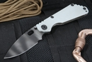 Strider SNG CC Arctic Grey - Tiger Stripe Folding Knife - SOLD