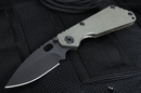 Strider SNG  - Ranger Green and Black Blade Tactical Folding Knife
