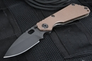 Strider Knives SNG Coyote Tan and Black Blade Folding Knife