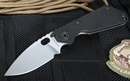 Strider Knives SNG Black and Stone Washed Folding Knife - SOLD