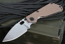 Strider Knives SNG Coyote Tan Stone Washed Tactical Folding Knife