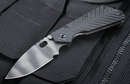 Strider SMF Black Aluminium - Tiger Stripe Blade Tactical Folding Knife - SOLD