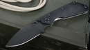 Strider SMF CC Black - Black Blade - Stonewashed Frame Folding Knife -SOLD