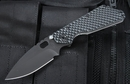 Strider SMF GG 3/4 Hollow Grind Black on Black Folding Knife -SOLD