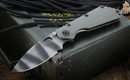 Strider Knives Ranger Green SMF CC Tiger Stripe Flamed Tactical Folding Knife