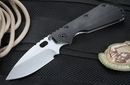 Strider SMF CC Black Tactical Folding Knife - Hollow Grinds - OUT OF STOCK