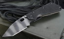 Strider Knives SMF-T Black on Tiger Tactical Folding Knife - SOLD