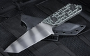 Strider GW/AR Tanto Black and Green Tactical Fixed Blade Knife - SOLD