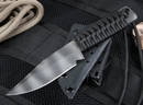Strider WP Clip Point Black on Tiger Stripes Tactical Fixed Blade Knife - SOLD