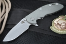 "Rick Hinderer  Gen 4 XM-18 3 1/2"" Grey G-10 Folding Knife"