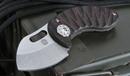 Curtiss Knives Nano Black/Maroon - Integral Titanium Folding Knife