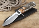 Bob Lay Canadian Box Elder Wood Hunting Knife