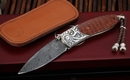 William Henry B05 Rockdell Damascus Folding Knife