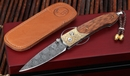 William Henry B10 Overlook - Gold Koftgari Damascus Folding Knife