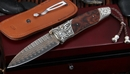 William Henry B30 Range Copper Wave and Carved Silver Folding Knife