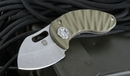 Curtiss Knives Nano OD Green- Titanium Integral Lock Folding Knife