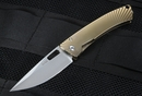 Lion Steel TiSpine Bronze Polished Titanium Folding Knife