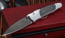 William Henry B30 Blackbird Damascus and Carbon Fiber Folding Knife