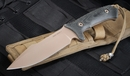 Spartan Harsey Model 2 -  FDE Blade / Black Handle Fixed Blade Knife - Spartan Blades Model 2