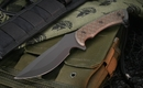 Spartan Nyx - Flat Black & Green Micarta Tactical Fixed Blade Knife
