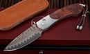 William Henry B12 Broad Branch Copper Wave Damascus Folding Knife