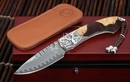 William Henry B12 Deadwood Damascus Folding Knife - SOLD