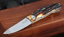 Kansei Matsuno Trailing Point Stag Folding Knife -SOLD