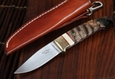 W.D. Pease Mammoth Tooth Swinger Fixed Blade Knife