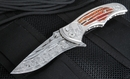 Brian Tighe - Tighe Coon - Fossil Mammoth Tooth & Damascus Folding Knife - SOLD