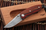 Lion Steel MINI Cocobolo and Damascus Folding Knife