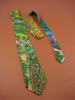 Unique Hand Painted Silk Necktie - Modern  Abstract Design - Never Duplicated -  Artist Hand made in USA.