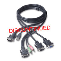 Belkin OmniView SOHO 6' Dual Head USB KVM Cable
