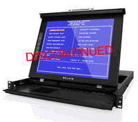 "Belkin 17"" LCD Rack Console with Dual-Rail Technology"
