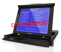 "Belkin 17"" LCD Rack Console with 16-Port KVM Switch, Dual-Rail Technology"