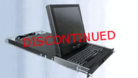 """Rose RackView 19"""" Rackmount LCD with Trackpad w/ 4-Port KVM & Cables"""
