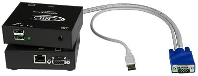 NTI ST-C5USBV-300 VGA KVM Extender - VGA up to 300ft - Keyboard Mouse Emulation