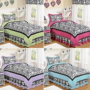 Zebra Bedding Ensemble for Kids Teens Adults- More Colors!